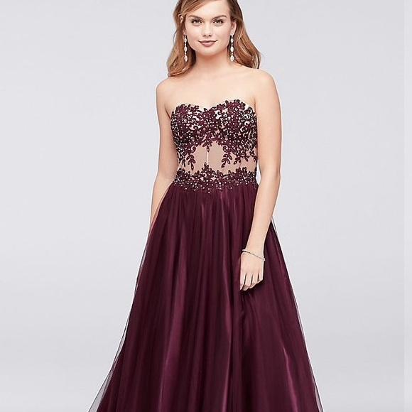 Davids Bridal Dresses Embellished Prom Dress Perfect Condition